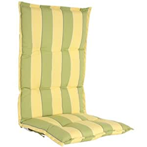 hochlehner auflagen 6cm kissen polster gartenstuhl gr n gelb. Black Bedroom Furniture Sets. Home Design Ideas