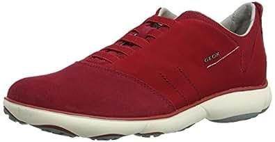 Geox U Nebula B, Sneaker Uomo, Rosso (Dk Red), 41 EU