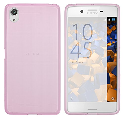 mumbi UltraSlim Hülle für Sony Xperia X Performance Schutzhülle pink transparent (Ultra Slim - 0.55 mm)