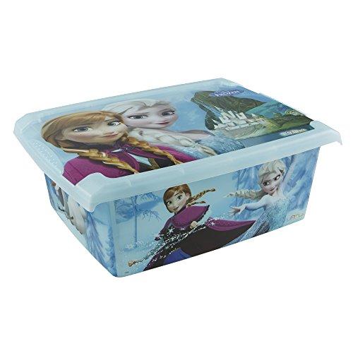 *keeeper Frozen Aufbewahrungsbox mit Deckel, 39 x 29 x 14 cm, 10 l, Filip, Blau Transparent*