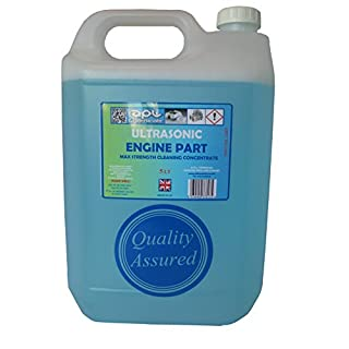 Ultrasonic cleaning fluid solution for engine parts and carburettors ultrasonic de-greasing formulation 5 LT