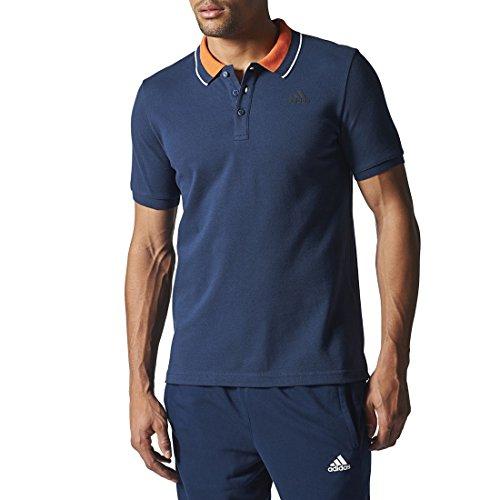 Adidas Ess Polo da Uomo, Blu/Nero (Maruni/Nero), M