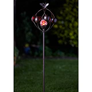 Aura Wind Spinner Crackle Ball Globe Light (Solar Powered)