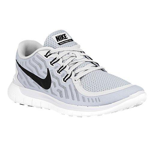 NIKE Men's Free 5.0 Running Shoe Pure Platinum/Wolf Grey/Cool Grey/Black Size 15 M US - Running Shirt Gry