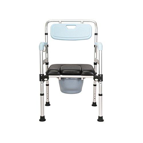MyAou-commode Commode Chaise En Alliage D'aluminium Siège De Toilette Toilette Chaise De Douche Pliante Chaise De Toilette