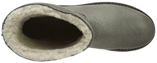 Shabbies Amsterdam Damen Ladies Short Boot 16cm with Real Wool Lining Alissa Matching Sole Schlupfstiefel Grau (Sottobosco)