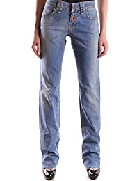 Galliano Damen MCBI130052O Blau Baumwolle Jeans