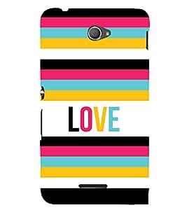 Fiobs Designer Back Case Cover for Sony Xperia E4 :: Sony Xperia E4 Dual (Love Pyar Romantic Colourful Patterns Quotes Theme Mobile Cover)