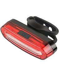 OKPOW USB Wiederaufladbares Fahrradrücklicht, LED Rücklicht Rot/Blau/Rosa, 360 Grad Drehnung, IPX 6, wasserdicht