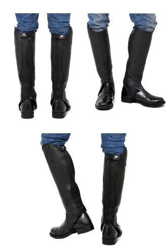 Riders Trend Guêtres en cuir souple avec doublure Amara noir - Noir