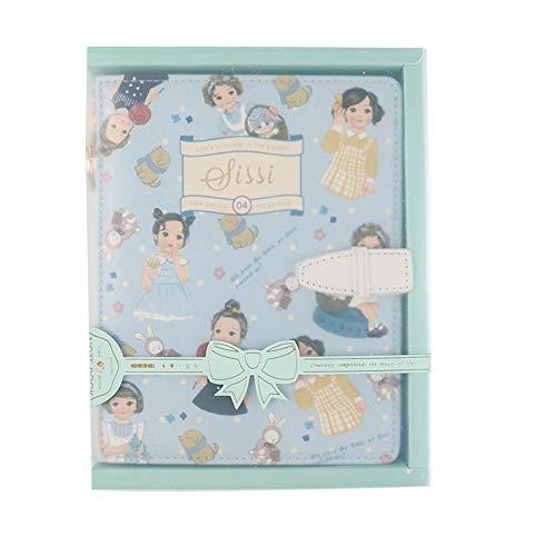 LKIHAH Hardcover Notizbuch,Reißverschluss-Notizbuch Und Tagebuch-Zeitplan-Buch-PU-Leder-Abdeckungs-Planer-Büro Und Schulbedarf,Blue