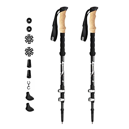 41KrxmjbBcL. SS500  - ENKEEO Ultralight Carbon Fiber Trekking Poles with Quick Lock System, Cork & EVA Grips, Telescopic Hiking Poles Walking Sticks for Men & Women, 1 Pair