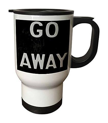 statuear Go Away 14-Ounce Tasse de voyage en acier inoxydable