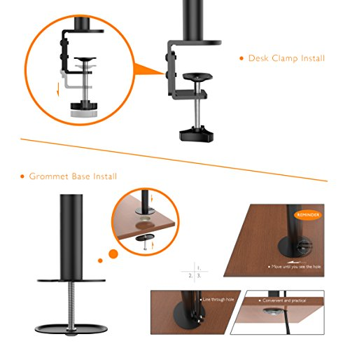 1home twin Twin arm Desk Mount TV LCD Monitor Computer monitor Bracket two times 13 27 Monitor Arms Stands