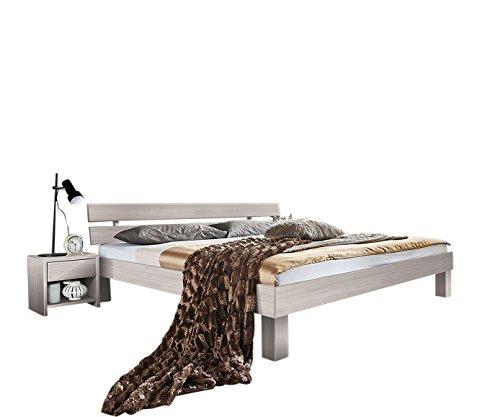 SAM® Massiv-Holzbett Jessica in Buche weiß – Bett mit geteiltem Kopfteil - 7