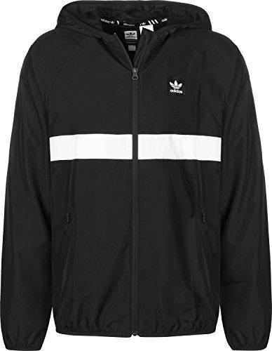 adidas Blackbird Packable Windbreaker Jacket Black/White X-Large/Black/White Packable Windbreaker