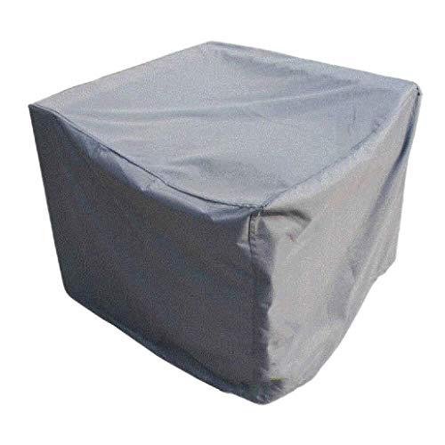 SS-Covers Gartenmöbel Abdeckungen, 210D Hochleistungs-Patio-Möbelbezug Aus Oxford-Polyester Für Den Außenbereich Rechteckige Abdeckung Für Stuhl Und Tisch Aus Rattan - Grau (Size : 145x145x70cm)
