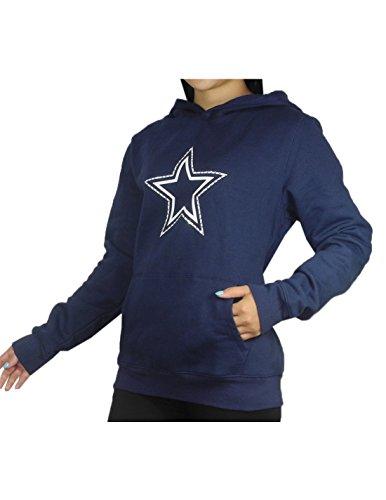 Pink Victoria's Secret Womens NFL Dallas Cowboys Hoodie with Rhinestones M Dark Blue
