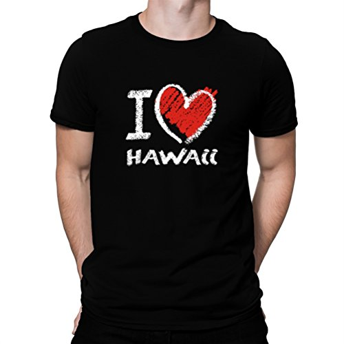 Camiseta-I-love-Hawaii-chalk-style