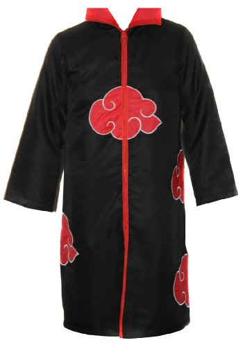 Akatsuki Mantel Kostüm - NARUTO COSPLAY Akatsuki MANTEL in Gr. XXL Umhang ITACHI Deidara für Cosplay Karneval oder Kostüm Parties