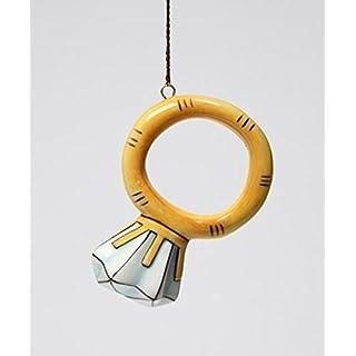 ATD 4 Piece Set Solitaire Diamond Ring Design Ornaments, 2.5 Inch