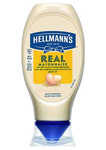 Hellmann\'s Real Mayonnaise (78{082bf9a8e2ab01f952e1bec3b9b9fb242e3aa700babb2dc8e447277973b5a75a} Fettgehalt) 1er Pack (1 x 400 g)