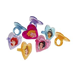 Disney Princess Dekoringe, 12er Pack, 4cm, herzförmig, Tortendeko