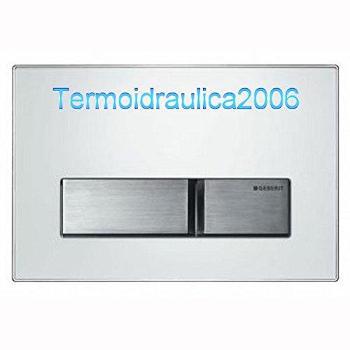 Preisvergleich Produktbild Geberit 115788SD1 Betätigungsplatte Sigma50 Rauchglas verspiegelt hochglanz-vc chrom-gebürste