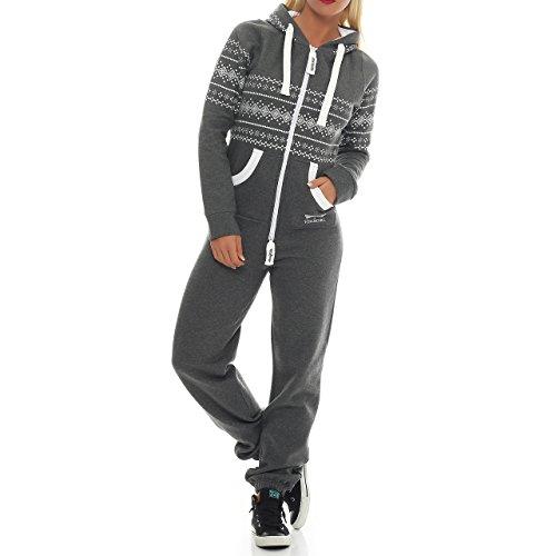 Finchgirl 97B34 Azteken Muster Damen Jumpsuit Overall Jogging -