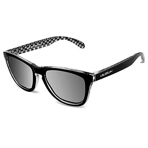 VILISUN Polarisierte Sport-Sonnenbrille, Unisex, geeignet für Outdoor-Sportarten Angeln Skifahren Golf Laufen Radfahren Camping (Silber)