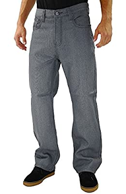 Kayden.K Loose Fit Straight Leg Jeans Grey