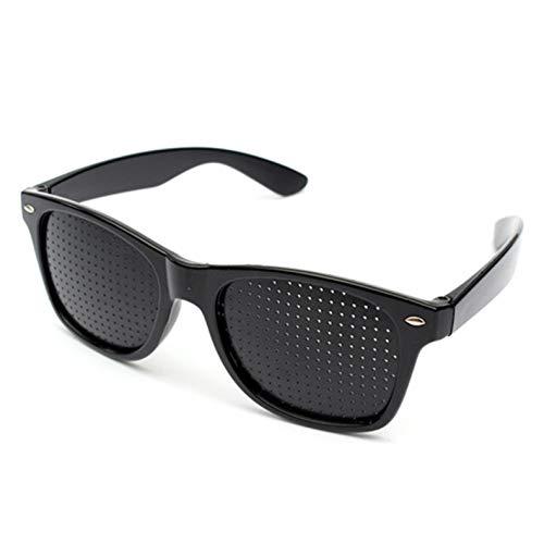 WWVAVA Sonnenbrillen Anti-Myopie Pinhole Brille Pinhole Sonnenbrille Eye Exercise Eyesight Verbessern Sie natürliche Heilung Vision Care Brillen, schwarz