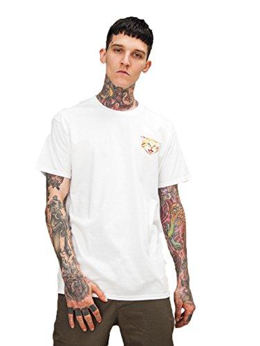 ALAIX T-Shirt da Uomo T-Shirt in Cotone con Stampa 3D Shirt T-Shirt Unisex Bianco-L
