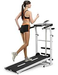 homelikesport Manual Tapis de Course Pliable, Tapis de Marche pour Fitness, Machine de Marcher, 110 * 45 * 105CM
