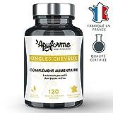 Apyforme - Complément alimentaire ongles et cheveux - 7 ingrédients naturels - Pousse ongles et cheveux - 120 gélules végétales - Made in France