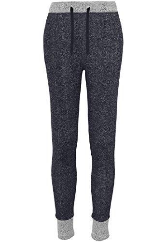 Urban classics pantalon de sport jogging de contraste pour femme Multicolore - Noir/gris
