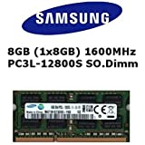Samsung 8GB (1x 8GB) DDR3 1600MHz (PC3L 12800S) SO Dimm Low Voltage Notebook Laptop Arbeitsspeicher RAM Memory
