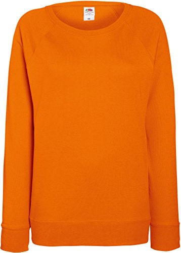 Fruit of the loom lady-fit sweat à manches raglan 62–146–0 léger Orange - Orange