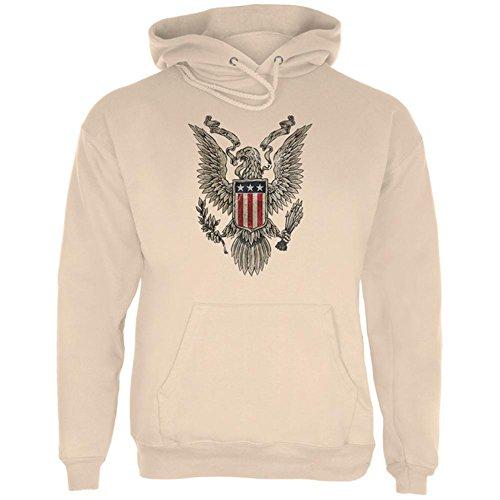 4. Juli geboren kostenlos Vintage American Bald Eagle mens Hoodie Sand 2XL (American Eagle Outerwear)