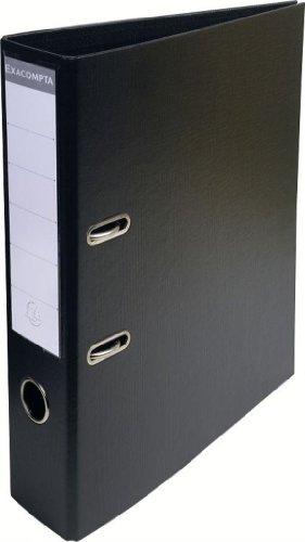 Exacompta-53741E-Classeur--Levier-PVC-2-Anneaux-Format-A4-Dos-de-70-mm-Noir