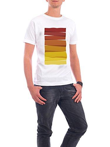 """Design T-Shirt Männer Continental Cotton """"Colorful Stripes Painting II"""" - stylisches Shirt Abstrakt Geometrie Natur Fashion von Paper Pixel Print Weiß"""