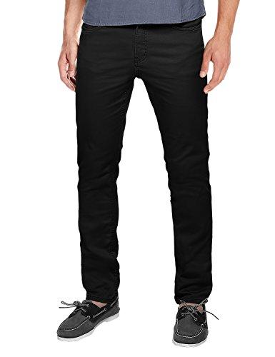 Match Hombre Slim Casual Pantalones #8032 (Negro (Black),34W x 31L (ES 44))