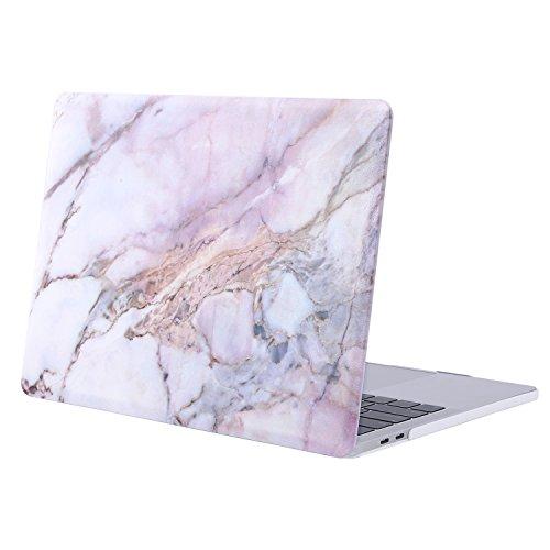MOSISO MacBook Pro 13 Hülle 2018&2017&2016 Freisetzung A1989/A1706/A1708 - Plastik Hartschale Schutzhülle mit Muster MacBook Pro 13 Zoll mit/ohne Touch Bar/Touch ID, Bunter Marmor