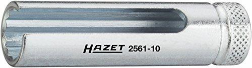 Hazet Turbolader Steckschlüssel-Einsatz (Doppel-6kt.) 2561-10 ∙ Vierkant hohl 6,3 mm (1/4 Zoll) ∙ Außen-Doppel-Sechskant Profil ∙ Schlüsselweite: 10 ∙ Gesamtlänge: 57 mm