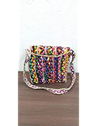 Detec Homze Eco Friendly Multi - Color/Multi - Purpose Designer Jute Bag For Shopping And Travelling