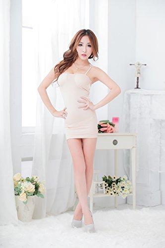 Add Health Damen Corsage Minikleid Clubwear Stretch Party Dress Apricot 015
