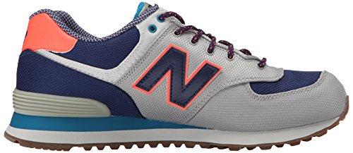 New Balance WL574VV1, Baskets Basses Homme Multicolore (Grey/Blue/Purple)