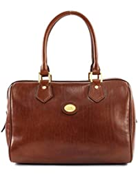 01485118e40c The Bridge Leather Barrel bag STORY DONNA Woman hand bag brown 04852901 14