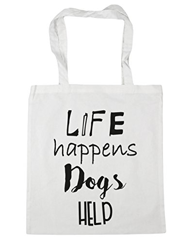 HippoWarehouse ,  Damen Strandtasche Gr. One Size, weiß (Spaniel Springer English Tote Bag)