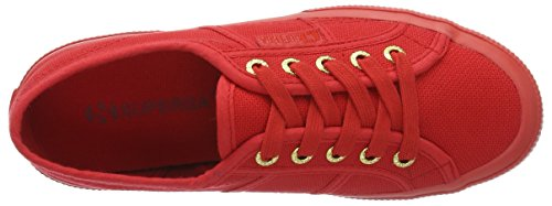 Superga Unisex-Erwachsene 2750 Cotu Classic Low-Top Rot (red-gold)